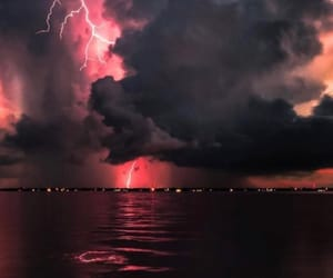 background, clouds, and lightning image