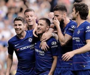 Chelsea FC, eden hazard, and jorginho image