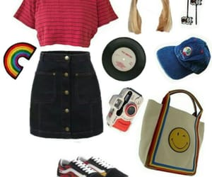hat, Polyvore, and rainbow image