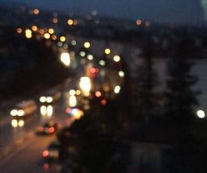 cars, headlights, and lights image
