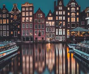 amsterdam, lights, and house image