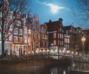amsterdam, travel, and lights image