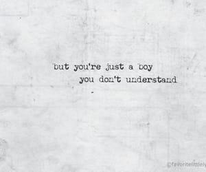 boy, Lyrics, and quote image