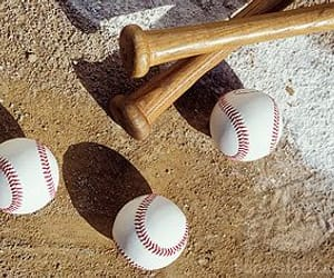 baseball and baseball bat image
