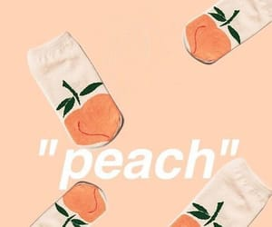 aesthetic, peachy, and peach image