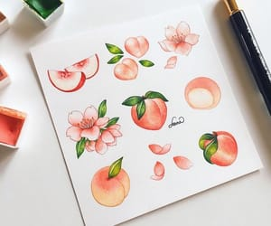 art, draw, and peach image