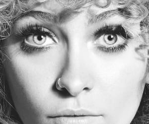 black and white, close-up, and paris jackson image