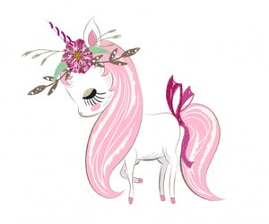 drawing, unicorn, and pink cute image