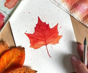 art, autumn, and beautiful image