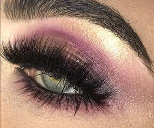 eyebrow, makeup, and purple image