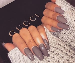 grey, nail, and nail art image