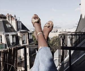 balcony, heels, and place image