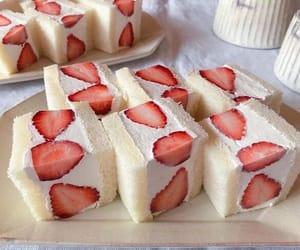 cake, milk, and creamy image