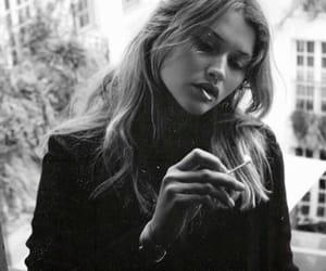 beauty, model, and smoke image