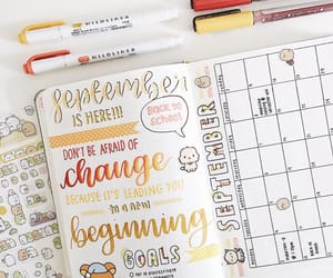 doodle, lettering, and journal image