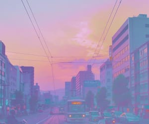 aesthetic, city, and pastels image