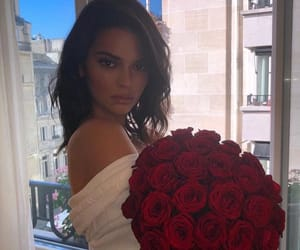 roses flowers, kendall jenner, and pretty girl girls image