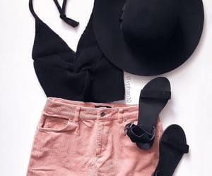 black hat, fashion, and goals image