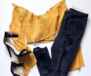 black jeans, fashion, and cute image