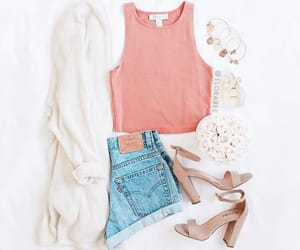 fashion, pink top, and goals image