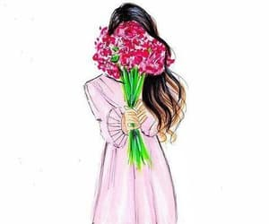 flowers, girls, and style image