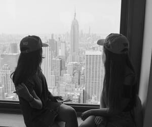 black and white, empire state, and love image
