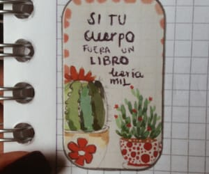 books, cactus, and poesía image