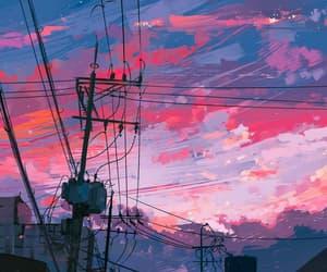 blue, night, and street image