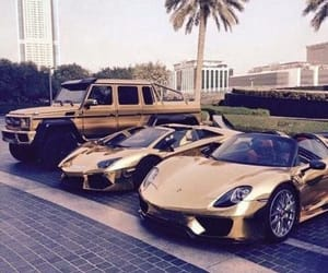 cars, luxury, and gold image
