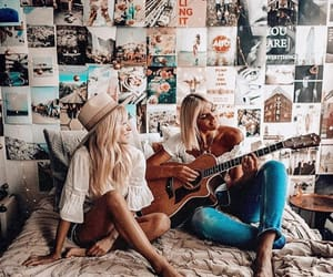 aesthetic, besties, and guitar image