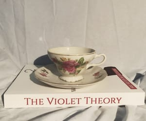 aesthetic, book, and teacup image