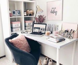 decor, room, and makeup desk image