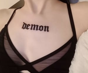 demon, gothic, and girl image