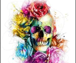 arte, belleza, and calavera image