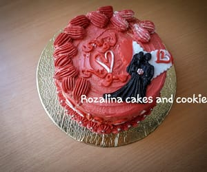 Libya, married couple, and red cake image