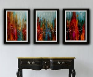 etsy, painting, and set of 3 print image