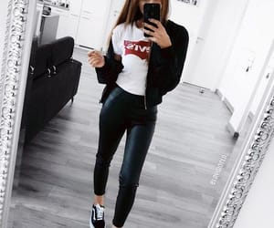 black, levis, and outfit image