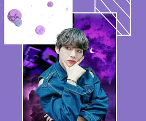 purple, taehyung, and wallpaper image