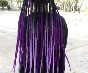 dreads, purple dreads, and purple image