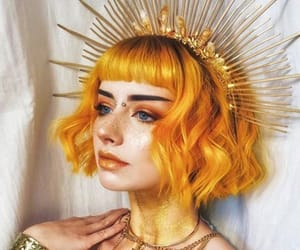 girl, hair, and orange image