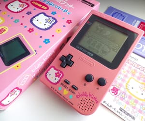 game boy, pink, and retro image