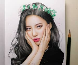 drawing, fanart, and kpop image