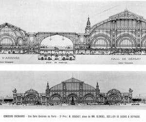 architecture, railway, and section image