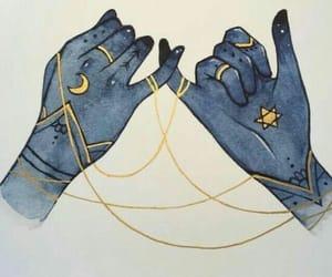 moon, magic, and stars image