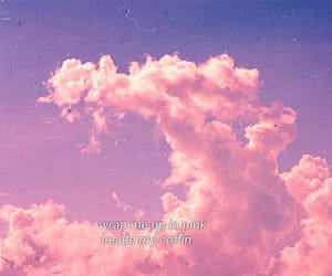 clouds, words, and cute image