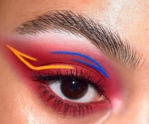 blue, eye, and makeup image