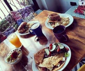 breakfast, coffe, and orange juice image