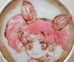 anime, sailor moon, and coffee image
