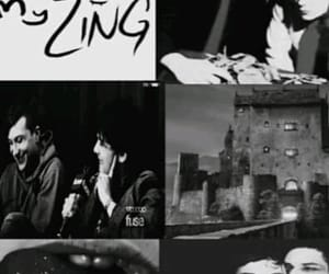 black and white, gerard way, and collages image