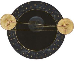 moon, overlay, and sun image